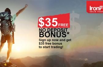 IronFX | Бездепозитный бонус $35