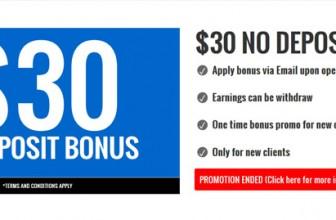 JCMFX | Бездепозитный бонус $30