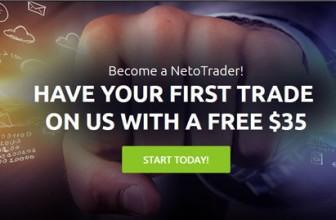 NetoTrade | Бездепозитный бонус $35